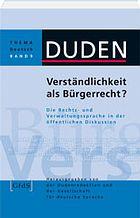 Buchcover: Verständlichkeit als Bürgerrecht?
