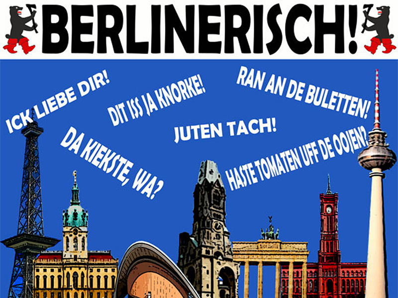 Collage Berliner Dialekt