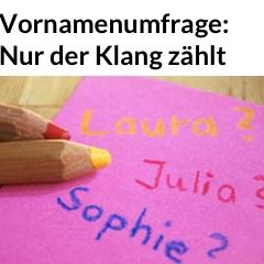 Banner Vornamen-Studie Allensbach