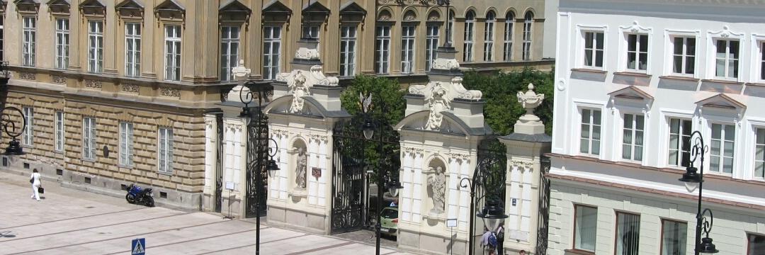 Haupteingang der Universität an der Krakauer Vorstadt