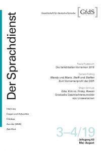 Der Sprachdienst 3–4/2019